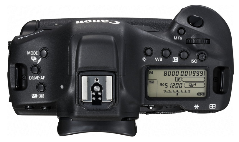 Canon EOS-1D X Mark II -2-Top View-Hardware-Pro