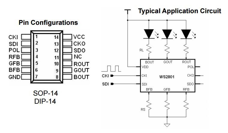 RGB PIXEL-WS2801-CHIP-8-Hardware-Pro