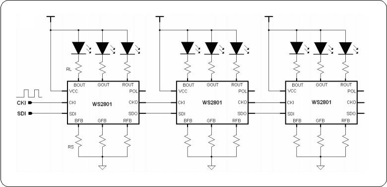 RGB PIXEL-WS2801-Typical app-3-Hardware-Pro